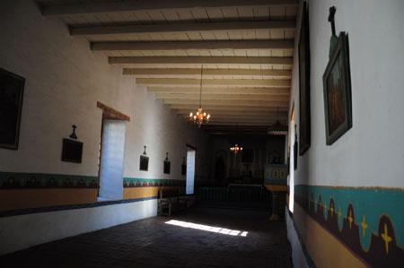 chapel interior san francisco de solano, sonoma