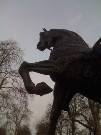 horse statue, Hyde Park