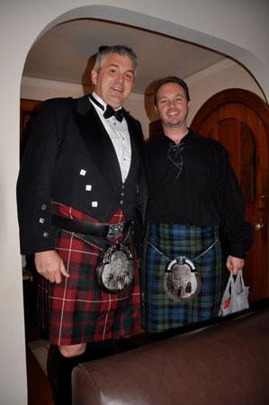 Scots in kilts