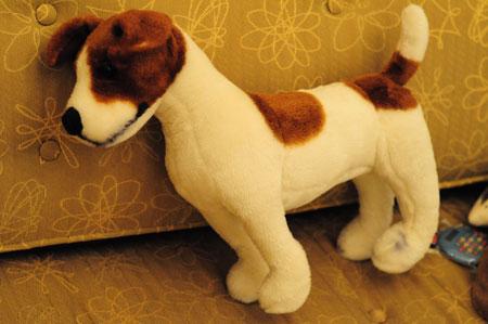stuffed terrier