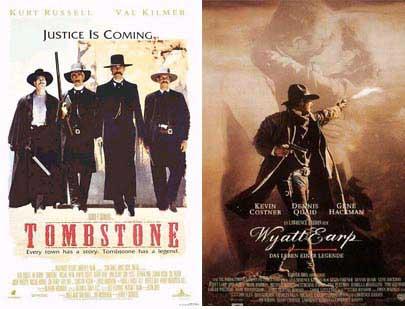 Two Wyatt Earp movie posters.