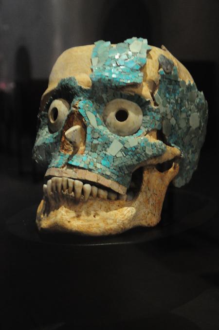 Zapotec skull from Monte Alban