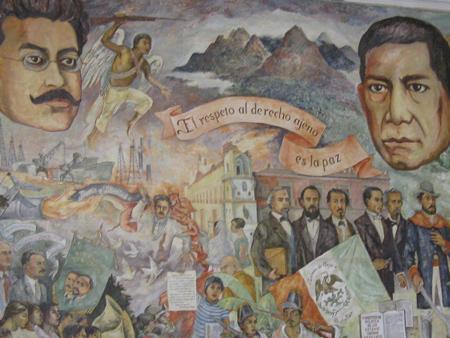 mural in the Palacio del Gobierno