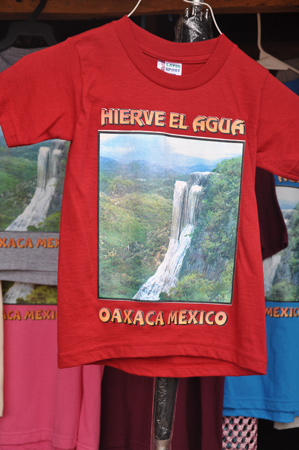 T Shirts at Hierve el Agua, Oaxaca