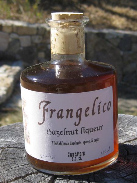 Cousin John's Hazelnut liqueur