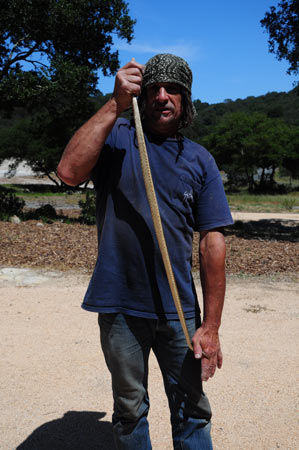 John the Baptist and gopher snake