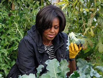 Gardening with Michelle Obama