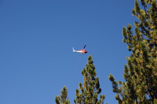 firefighting helicopter, Lassen Volcanic National Park
