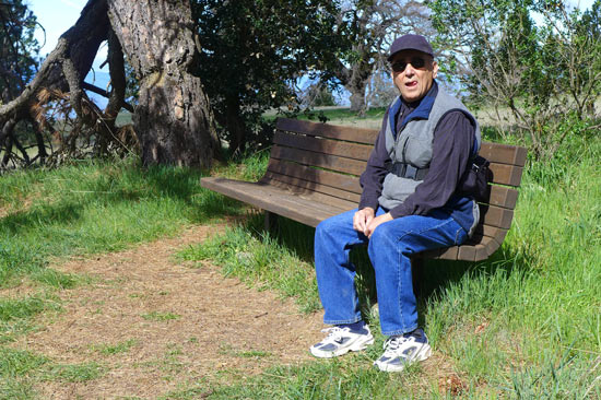alan, hiking Henry Coe park