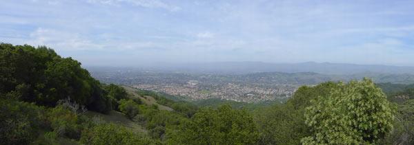 San Jose from Almaden Quicksilver Park