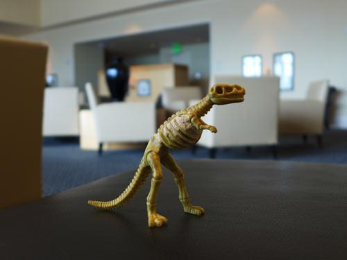 Tiny Godzilla, FIrst Class Lounge