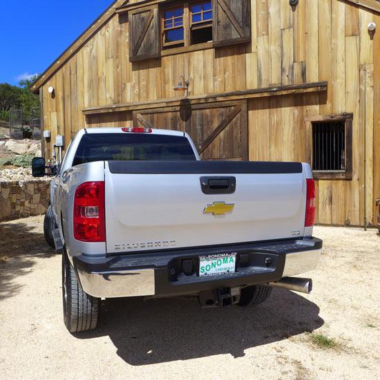 truck, barn