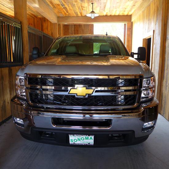 truck, barn, Silverado