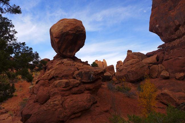 We saw balancing rocks.